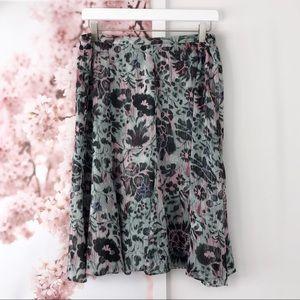 Sag Harbor Petite Floral Paneled Circle Skirt